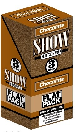 Show Blunt Size 3 Wraps Chocolate Flat Pack