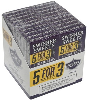 Swisher Sweets Cigarillo Grape Pack 5FOR3