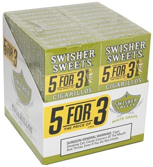 Swisher Sweets Cigarillo White Grape Pack 5FOR3