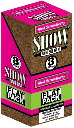 Show Blunt Size 3 Wraps Kiwi Strawberry Flat Pack