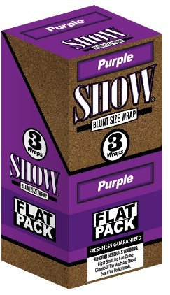Show Blunt Size 3 Wraps Purple Flat Pack