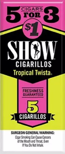 Show Cigarillos Tropical Twista 5 for 1