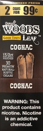 Good Times Sweet Wood Leaf Cognac Cigars 2 for 99