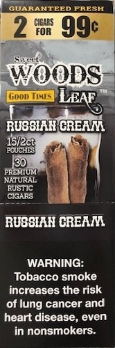 Good Times Sweet Wood Leaf Russian Cream Cigars 2 for 99