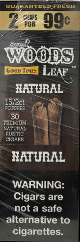 Good Times Sweet Wood Leaf Natural Cigars 2 for 99