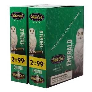White Owl Cigarillos Foil Fresh Emerald 2 for 99