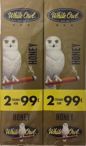 White Owl Cigarillos Foil Fresh Honey (Gold) Pre-Priced