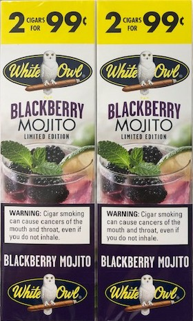 White Owl Cigarillos Foil Blackberry Mojito 2 for 99