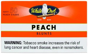 White Owl Blunts Cigars Peach Box