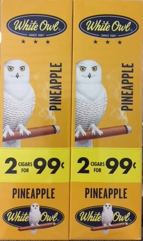 White Owl Cigarillos Foil Fresh Pineapple 2 for 99