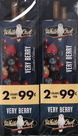 White Owl Cigarillos Foil Fresh VERY BERRY 2 for 99