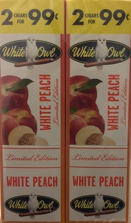 White Owl Cigarillos Foil Fresh White Peach 2 for 99