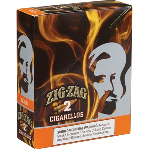Zig Zag Cigarillos Peach 15/3 $0.99 Pre-Priced