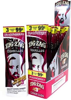 Zig Zag Cigarillos Dragonberry 15/3 $0.99 Pre-Priced